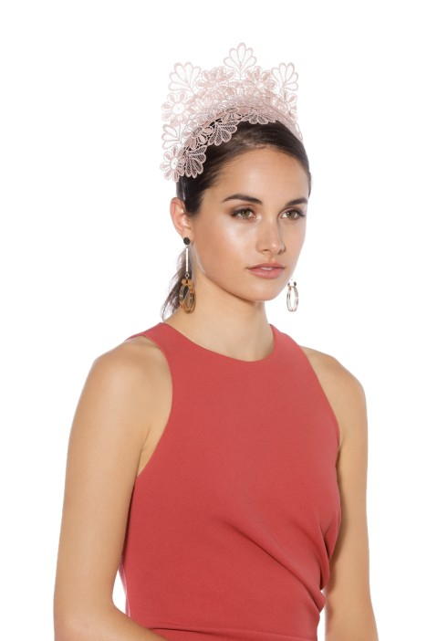 Morgan & Taylor - Kaisha Fascinator - Dusty Pink - Side Model
