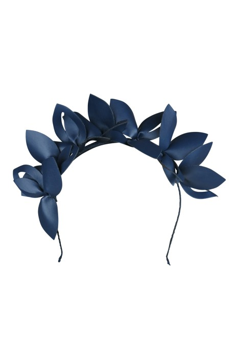 Morgan & Taylor - Lavina Fascinator - Navy - Front