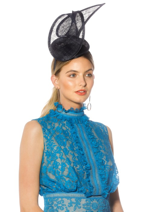 Morgan_Taylor - Ramona Fascinator - Navy - Side