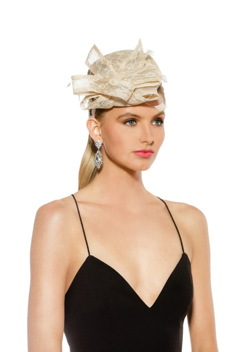 Morgan & Taylor - Samantha Fascinator - Cream - Front Model