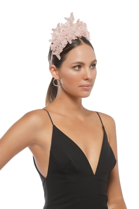 Morgan & Taylor - Sassi Fascinator - Nude - Side Model