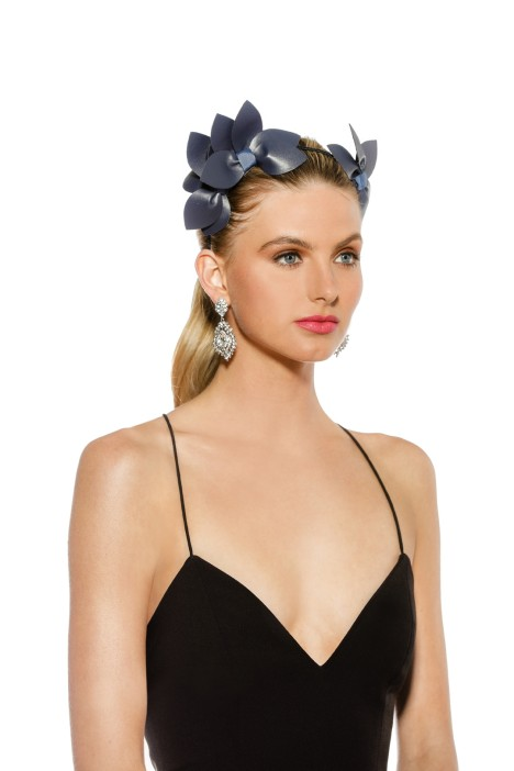Morgan & Taylor - Sheridan Fascinator - Navy - Front Model