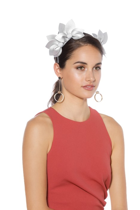 Morgan & Taylor - Sheridan Fascinator - Silver - Front Model