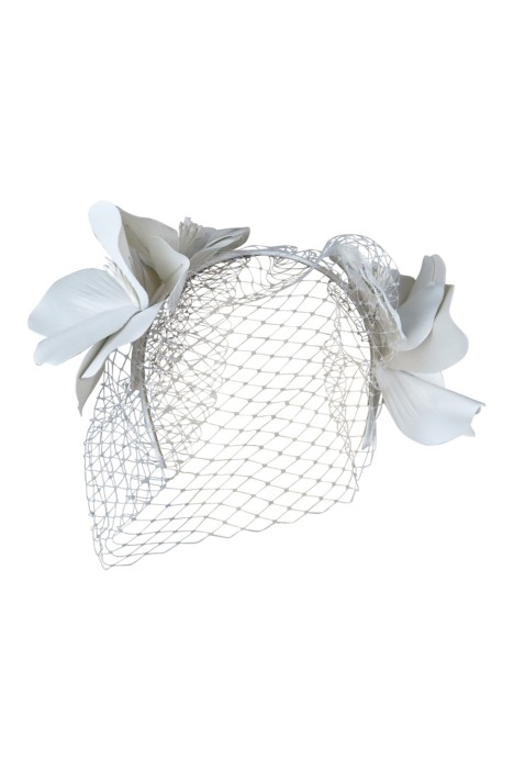 Morgan & Taylor - Tessa Fascinator - White - Front