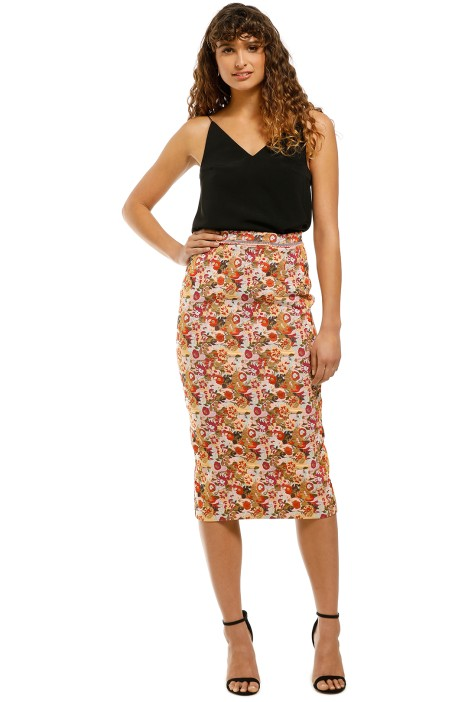 Moss-and-Spy-Monet-Pencil-Skirt-Floral-Front