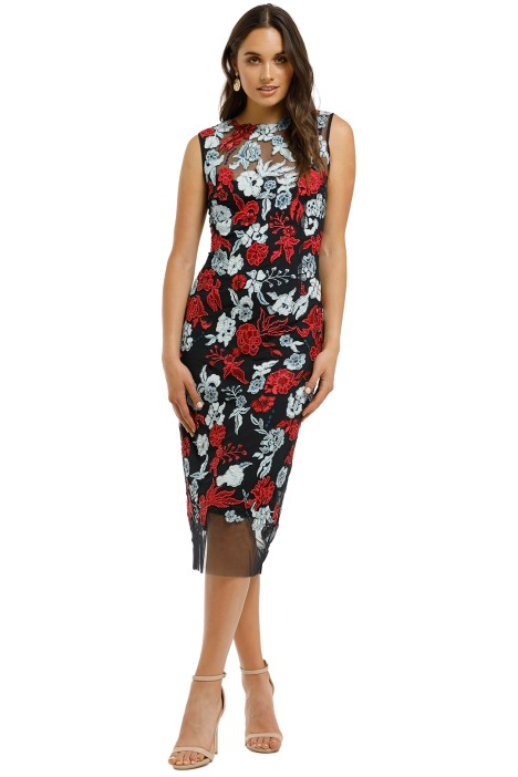 Moss-and-Spy-Primrose-Shift-Dress-Navy-and-Red-Front