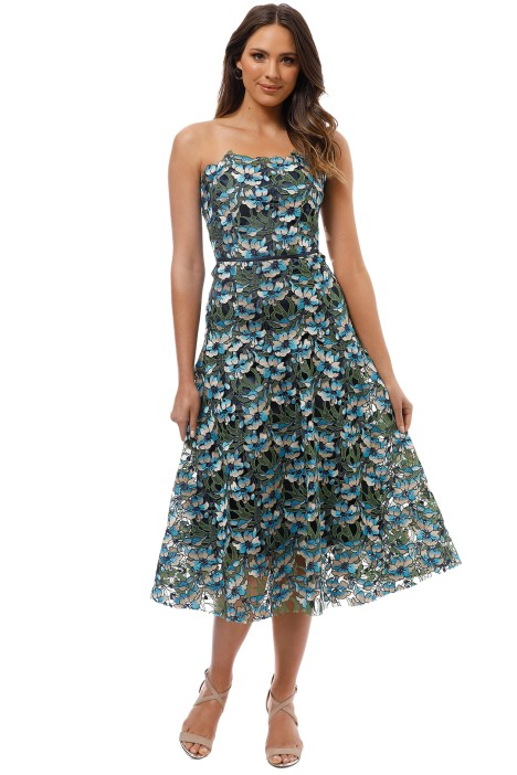 Moss and Spy - Gardenia Strapless Dress - Multi - Front
