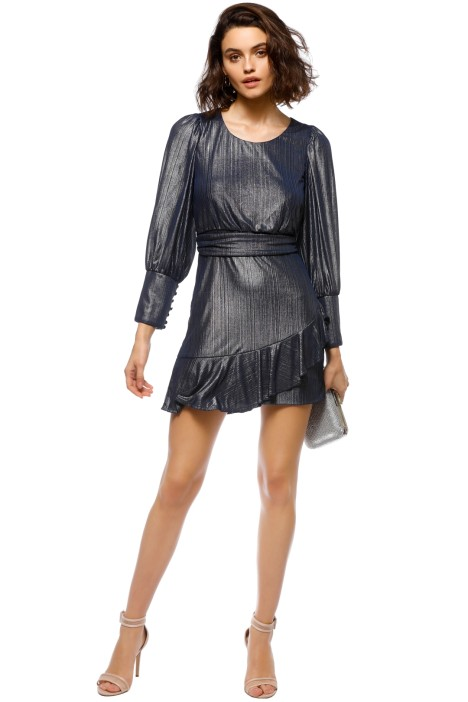 Mossman - The Boiling Point Mini Dress - Navy - Front