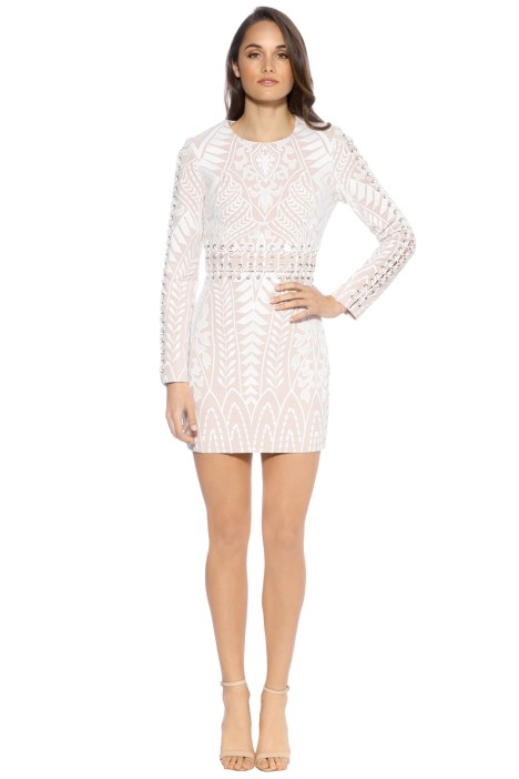 Mossman - Enchanted Garden Dress - Nude/Ivory -  Front