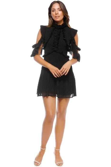 Mossman - She Spotted Me Dress - Black - Front