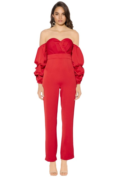 Mossman - The Granite State Jumpsuit - Scarlett - Front