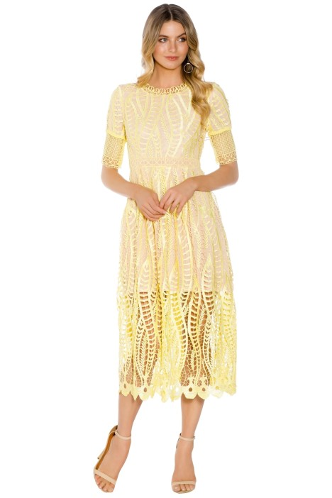 Mossman - The revival Dress - Yellow - Front