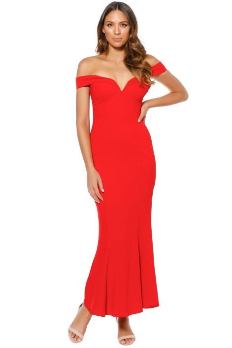 Mossman - The Wondering Eye Dress - Red - Front