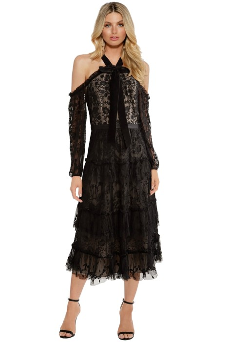 Needle & Thread - Primrose Dress - Black Lace - Front