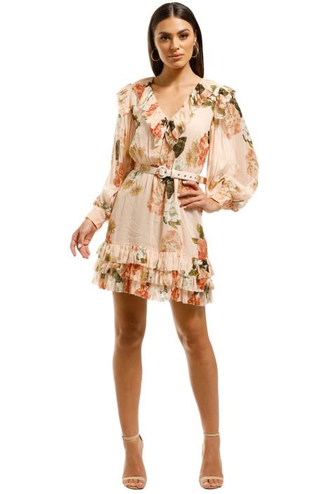 Nicholas-The-Label-Ruffle-Mini-Dress-Powder-Multi-Front