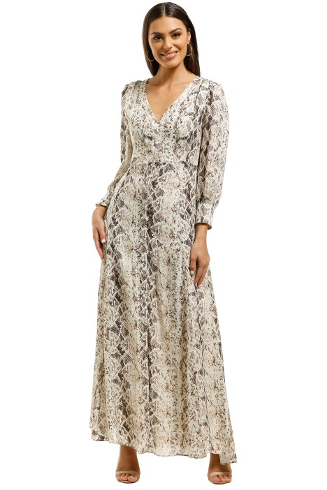 12415b6efa4d Tie Front Maxi Shirtdress by Nicholas for Rent