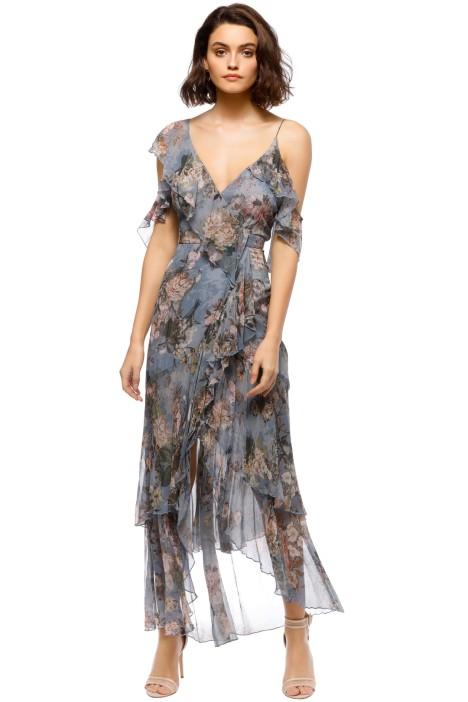 Nicholas - Arielle Floral Wrap Maxi Dress - Blue Floral - Front