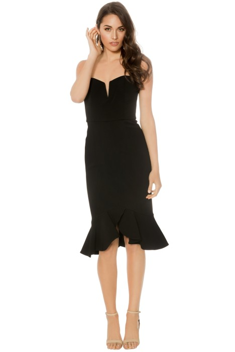 Nicholas - Bandage Flip Hem Bra Dress - Black - Front