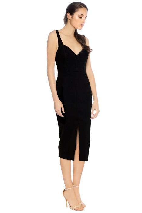Nicholas - Crepe Quilted Bra Dress - Black - Side