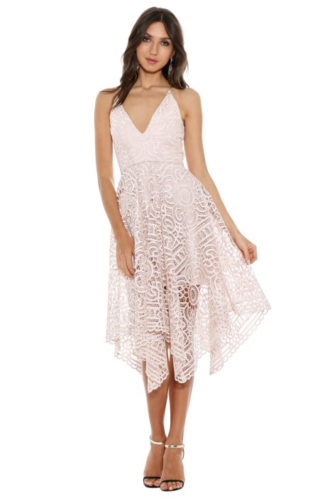 Nicholas - Floral Lace Ball Dress - Antique Pink - Front