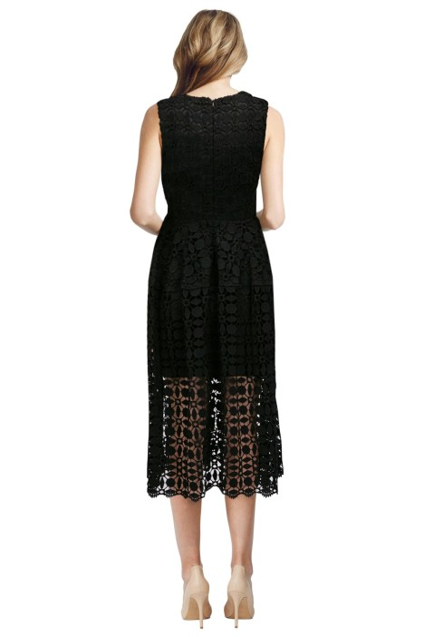 Mosaic Lace Ball Dress In Black By Nicholas For Hire