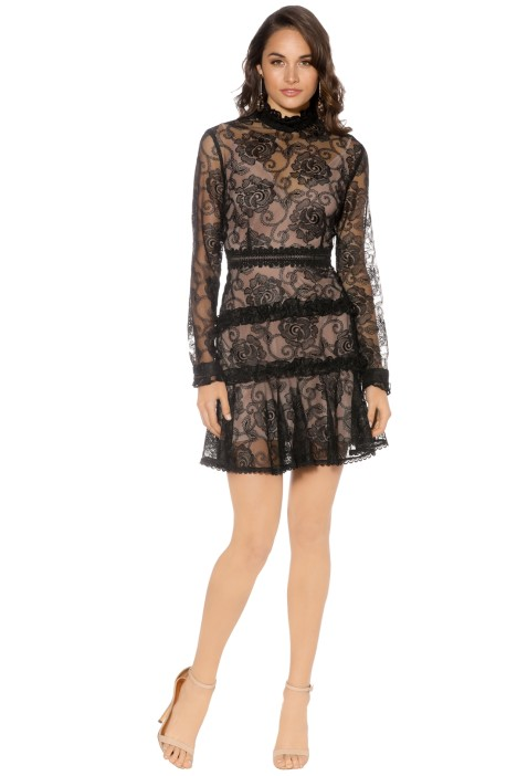 Nicholas - Rosie Lace High Neck - Black - Front