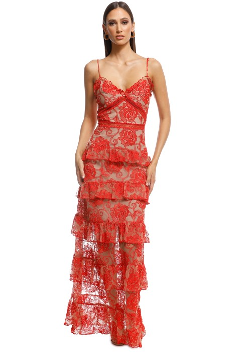 Nicholas - Rosie Tired Gown - Red - Front
