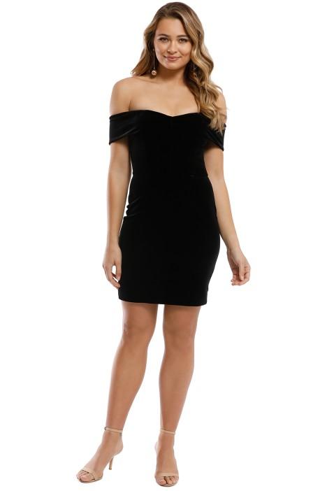 Nicholas - Velvet Mini Dress - Black - Front