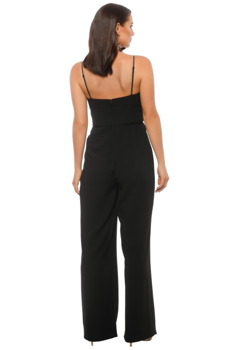acfcde8e2bfa Nicholas The Label - Crepe Corset Jumpsuit - Black - Back
