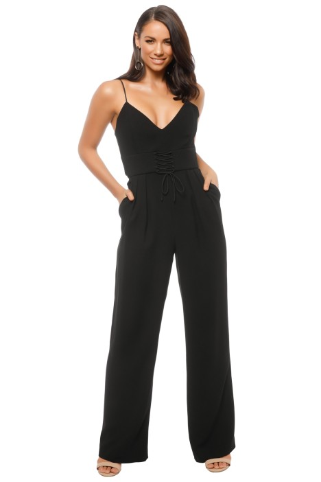 7f6fd0b2269f Crepe Corset Jumpsuit by Nicholas for Hire | GlamCorner