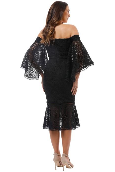 6a1814fe093c Nicholas the Label - Moroccan Tile Off Shoulder Dress - Black - Back