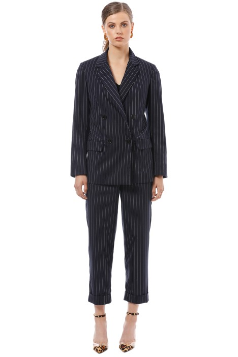 Nicholas the Label - Pinstripe Suiting Blazer - Navy - Front