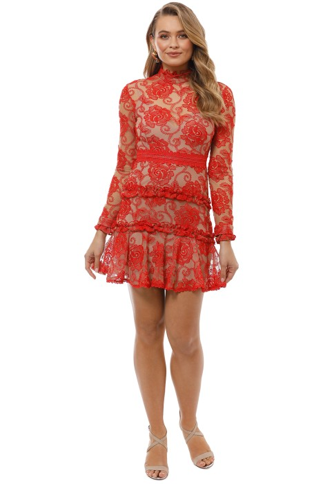 Nicholas the Label - Rosie Lace High Neck - Red - Front