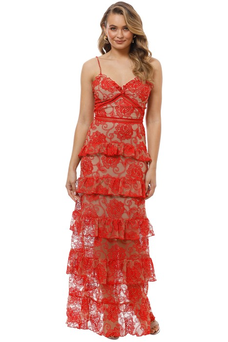 Nicholas the Label - Rosie Tired Gown - Red - Front