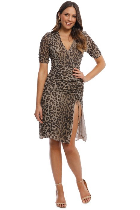 Nicholas the Label - Leopard Tea Dress - Print - Front