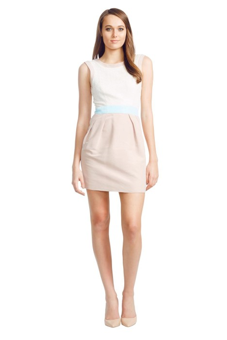 Nicola Finetti - Banded Cross Pleat - Front - Cream