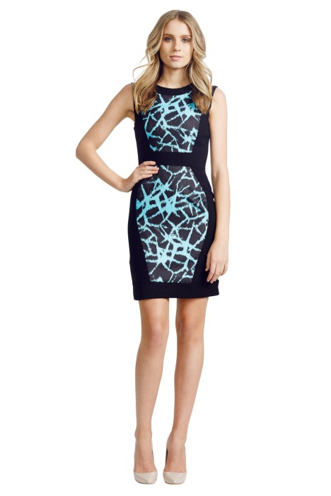 Nicola Finetti - Colour Block Dress - Back - Black