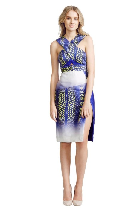 Nicola Finetti - Python Dress - Blue Print - Front
