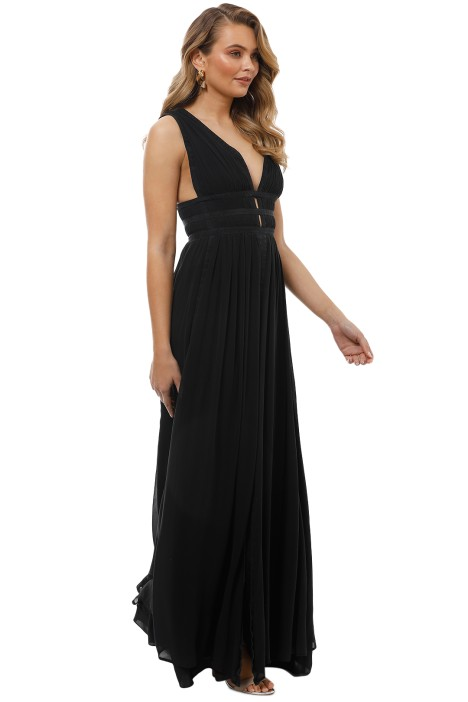 459bd8db0d Gladiator Silk Gown in Black by Nicole Miller for Rent