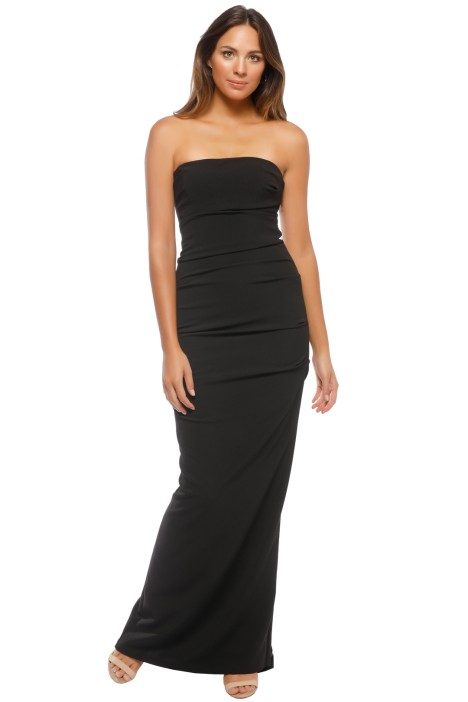 Nicole Miller - Tuck Strapless Gown - Front