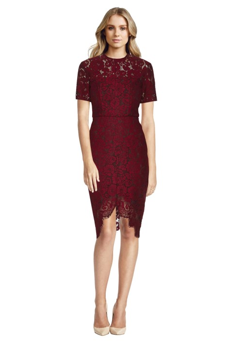 Lover - Ruby Oasis Fitted Dress - Front