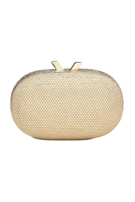 Olga Berg - Ace Oval Crystal Pod - Gold - Front