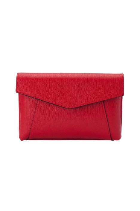 Olga Berg - Andrea Wide Foldover Clutch - Red - Front