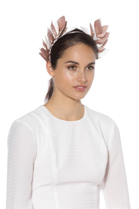 Olga Berg - Cassie Goddess Headband - Blush White - Model