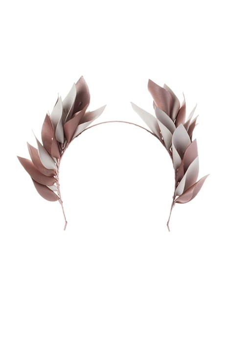 Olga Berg - Cassie Goddess Headband - Blush White - Front