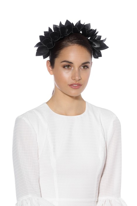 Olga Berg - Jess Floral Headband - Black - Side Model