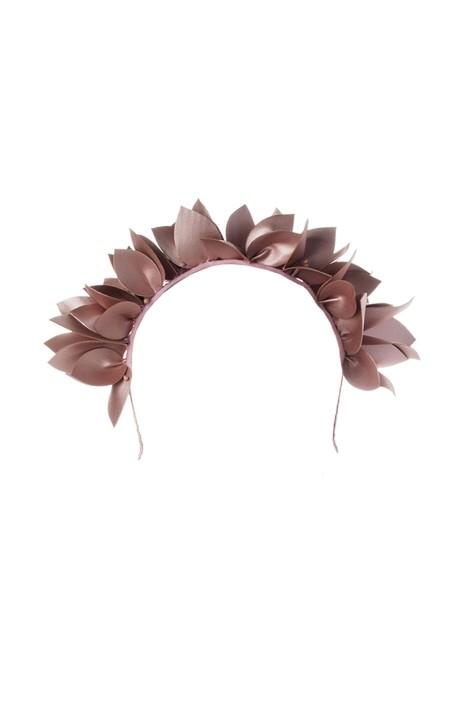Olga Berg - Jess Floral Headband - Blush - Front