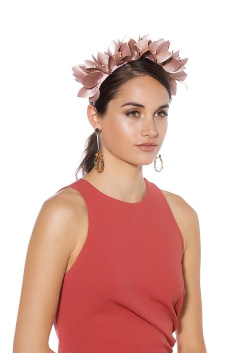 Olga Berg - Jess Floral Headband - Blush - Side Model