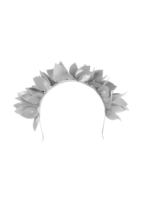Olga Berg - Jess Floral Headband - White - Front