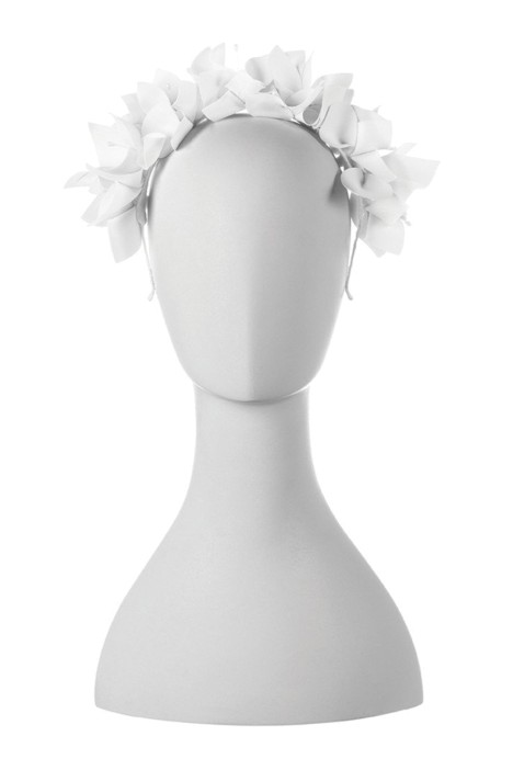 Olga Berg - Mae Floral Headband - White - Front